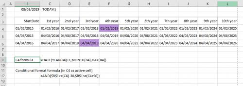 Alerts About Approaching Due Dates (Microsoft Excel)