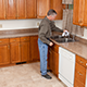 Counters need frequent cleaning