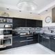 Appliances fill a kitchen