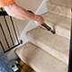 Stairs often show off soiled carpets